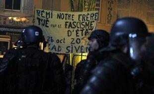 Manifestation à Gaillac (Tarn) le 26 octobre 2014, après la mort d'un jeune opposant au barrage contesté de Sivens, dans la nuit du 25 au 26 octobre 2014