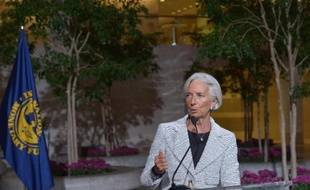 Christine Lagarde, le 30 avril 2014 au siège du Fonds Monétaire international (FMI) à Washington