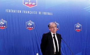 Noël Le Graët en conférence de presse le 10 décembre 2015.