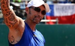 Marcelo Rios, ancien numéro 1 mondial de tennis, ici en février 2018 à Santiago du Chili.