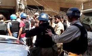 Le 28 août, des experts des Nations unies viennent inspecter Ghouta, en Syrie, après le bombardement à l'arme chimique le 21août 2013.