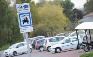 Une aire de covoiturage à Nantes (image d'illustration).