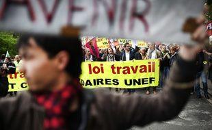 Manifestation contre la loi travail à Nantes le 2 juin 2016