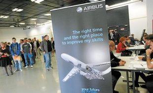 Un salon de recrutement dédié à l'industrie aéronautique avait lieu à Bouguenais.