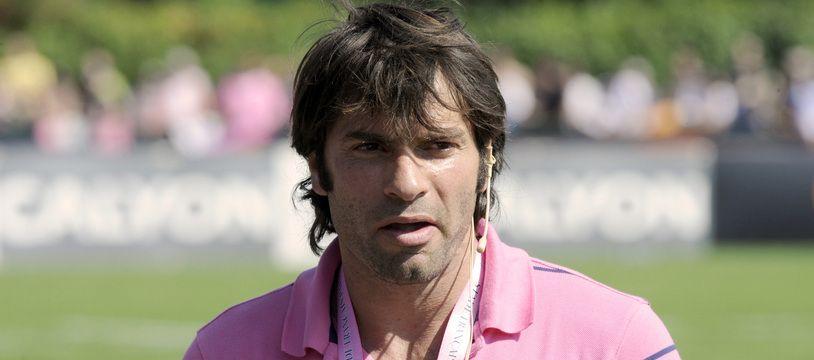 Christophe Dominici quand il était dans le staff du Stade Français, en août 2008.