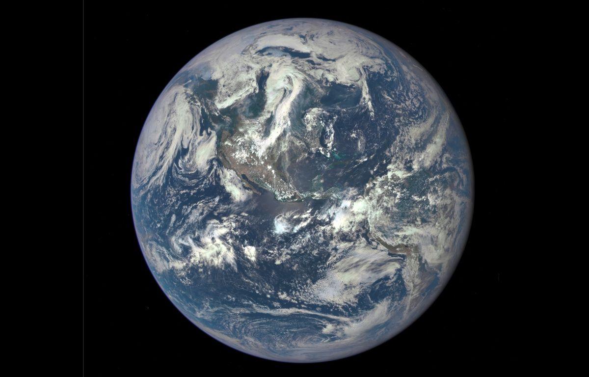 La Terre vue par le nouveau satellite DSCVR le 6 juillet 2015. – Nasa/Epic/DSCVR