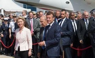 Ursula von der Leyen et Emmanuel Macron au salon du Bourget, le 17 juin 2019.