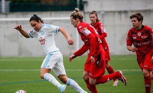 Sandrine Brétigny lors du match de Marseille contre Dijon le 6 décembre 2015