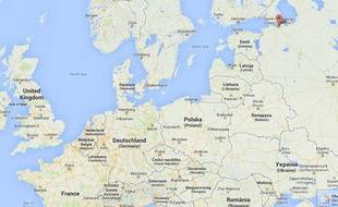 Capture d'écran Google map de Saint-Pétersbourg, en Russie.