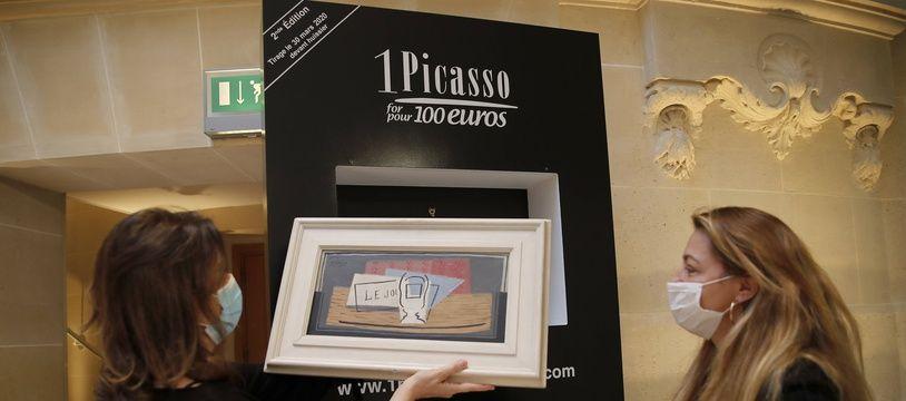 Le Picasso remporté par la gagnante est une composition géométrique de 1921 intitulée