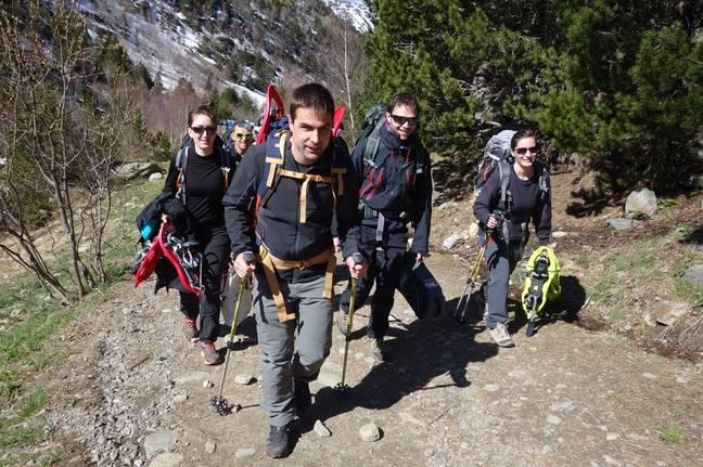 Lors d'une sortie d'entraînement en Andorre.