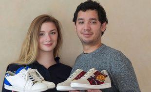 Aurélie Gisclon et Nicolas Raudrant, deux anciens étudiants du Skema Sophia-Antipolis, viennent de créer leur marque de baskets en tissu africain, Wibes.