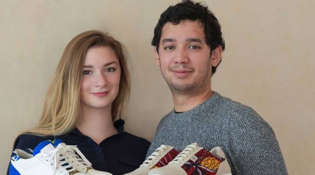 Un créateur de Toulouse crée deux paires de baskets pour le
