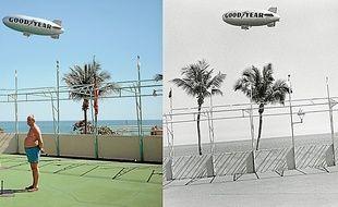 Florida 1967. Meyerowitz hésitait encore entre couleur et noir et blanc.