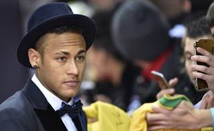 Neymar, l'attaquant du Barça, le 11 janvier 2016 à Zurich lors de la cérémonie du Ballon d'Or.
