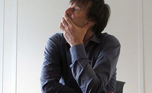Nicolas Hulot à la réŽdaction de 20 Minutes, le 26 novembre 2015.