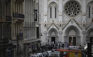 La basilique Notre-Dame de Nice, où a eu lieu l'attaque terroriste jeudi.