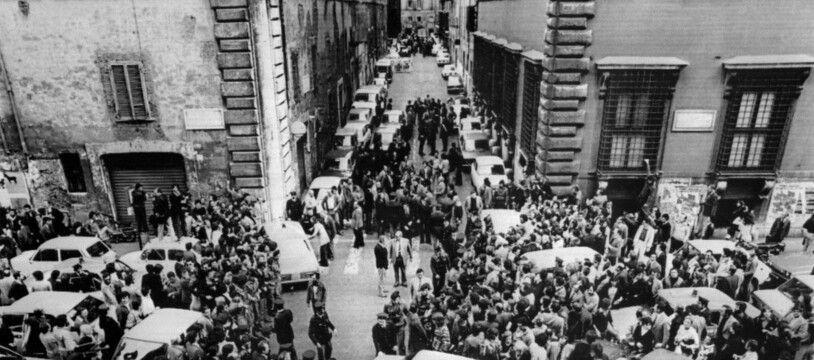 Le 9 mai 1978 à Rome, le jour de la mort de l'ancien président du conseil Aldo Moro par les Brigades rouges. (archives)
