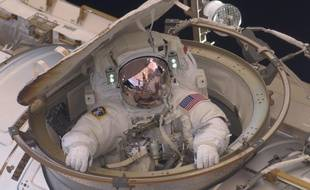 Illustration d'un astronaute américain.