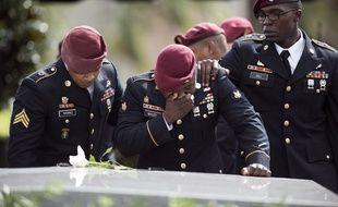 Des soldats américains aux obsèques du Sergent La David Johnson, mort au Niger
