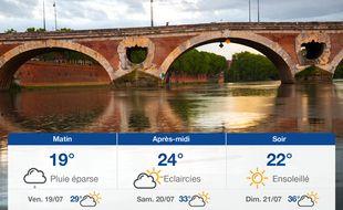 Météo Toulouse: Prévisions du jeudi 18 juillet 2019