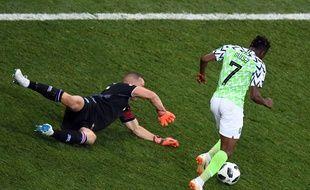Ahmed Musa a été l'homme du match lors de ce Nigeria-Islande