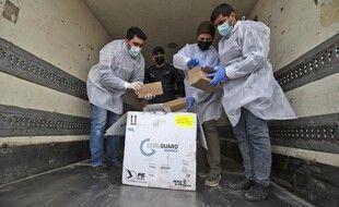 Les premiers vaccins contre le coronavirus sont arrivés à Gaza le 17 février 2021.