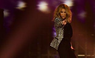Céline Dion sur scène à Paris le 4 juillet 2017.