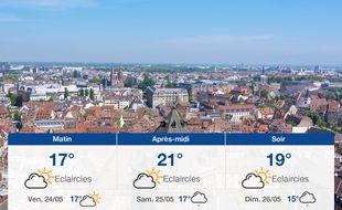 Météo Strasbourg: Prévisions du jeudi 23 mai 2019.