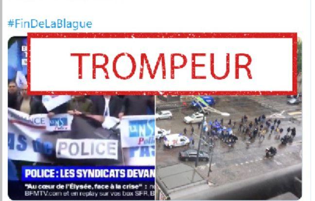 Non, les images de BFMTV n'ont pas fait croire à une «manifestation massive des policiers » à Paris