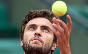 Gilles Simon le 28 mai 2014 à Roland-Garros.