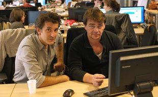 Thierry Godard et Fred Bianconi de la série «Engrenages» le 9 octobre 2012 à 20 Minutes.
