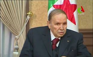 Abdelaziz Bouteflika à la télévision algérienne le 11 mars 2019.