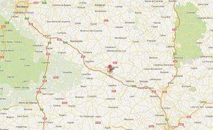 Google Maps d'Agen (Lot-et-Garonne).