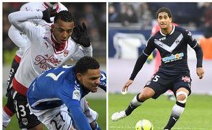 Jules Koundé (à gauche) et Pablo n'avaient pas joué une minute sous le maillot des Girondins cette saison avant le mois de janvier.