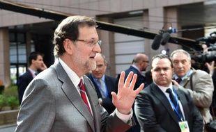 Le Premier ministre espagnol Mariano Rajoy à Bruxelles, le 23 avril 2015