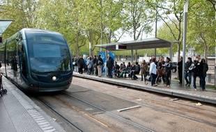 Bordeaux, 10 avril 2012. - Illustration tram - Photo : Sebastien Ortola
