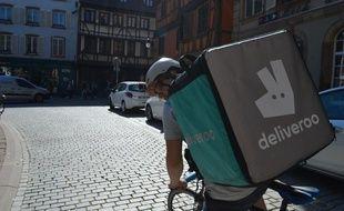 Un livreur Deliveroo à Strasbourg en 2016 (illustration).