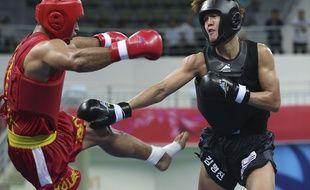 Démonstration de sanda lors des derniers Jeux asiatiques en septembre 2014. (AP Photo/Eugene Hoshiko)/