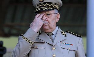 Le général Salah Ahmed Gaid à Alger en 2014.
