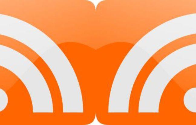Le logo des flux RSS.