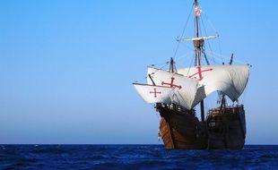 La  réplique de la Santa Maria, la caravelle de Christophe Colomb, fait escale pendant dix jours à Sète.