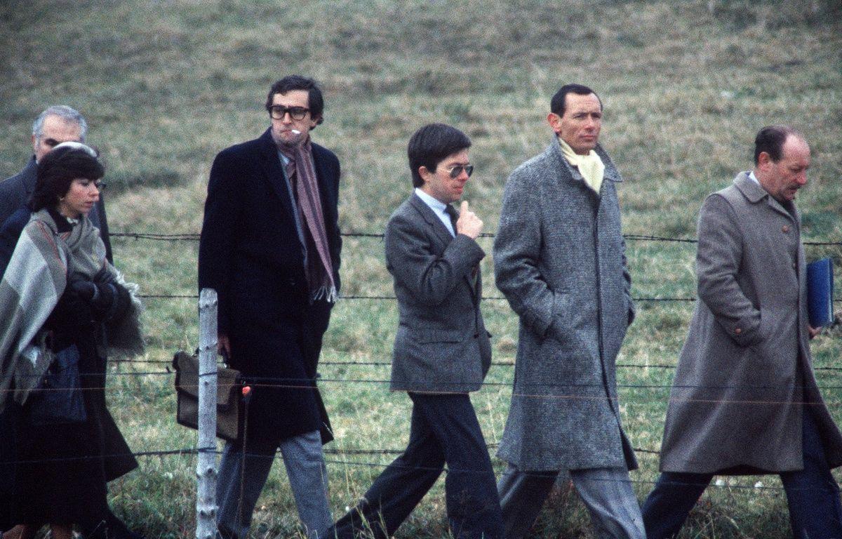 Lépanges-sur-Vologne, le 30 octobre 1985. Le juge Jean-Michel Lambert lors d'une reconstitution dans l'enquête sur la mort du petit Grégory. – PATRICK HERTZOG / AFP