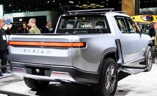 Le modèle RT1 de Rivian, lors de l' « International Auto Show », à New York, en avril dernier.