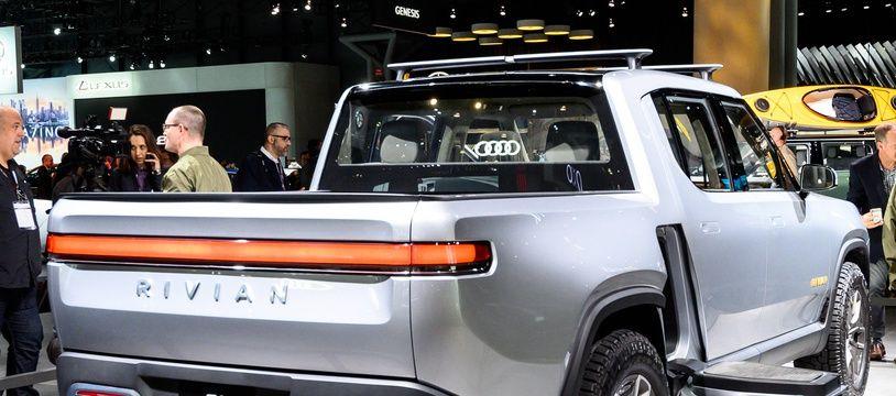 Le modèle RT1 de Rivian, lors de l' « International Auto Show », à New York, en avril dernier.