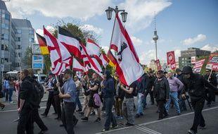 Des partisants du NPD le 26 avril 2014 à Berlin.