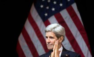 Le secrétaire d'Etat John Kerry à Vienne en Autriche, le 14 novembre 2015