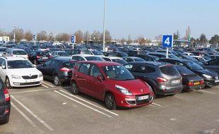 Les parkings de l'aéroport Nantes-Atlantique.