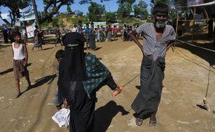 Des réfugiés rohingyas dans le camp de Balukhali, au Bangladesh, le 15 octobre 2017.