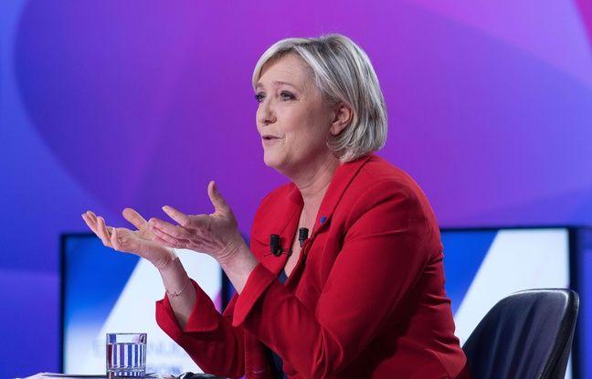 Marine Le Pen sur le plateau de France 2, le 20 avril 2017